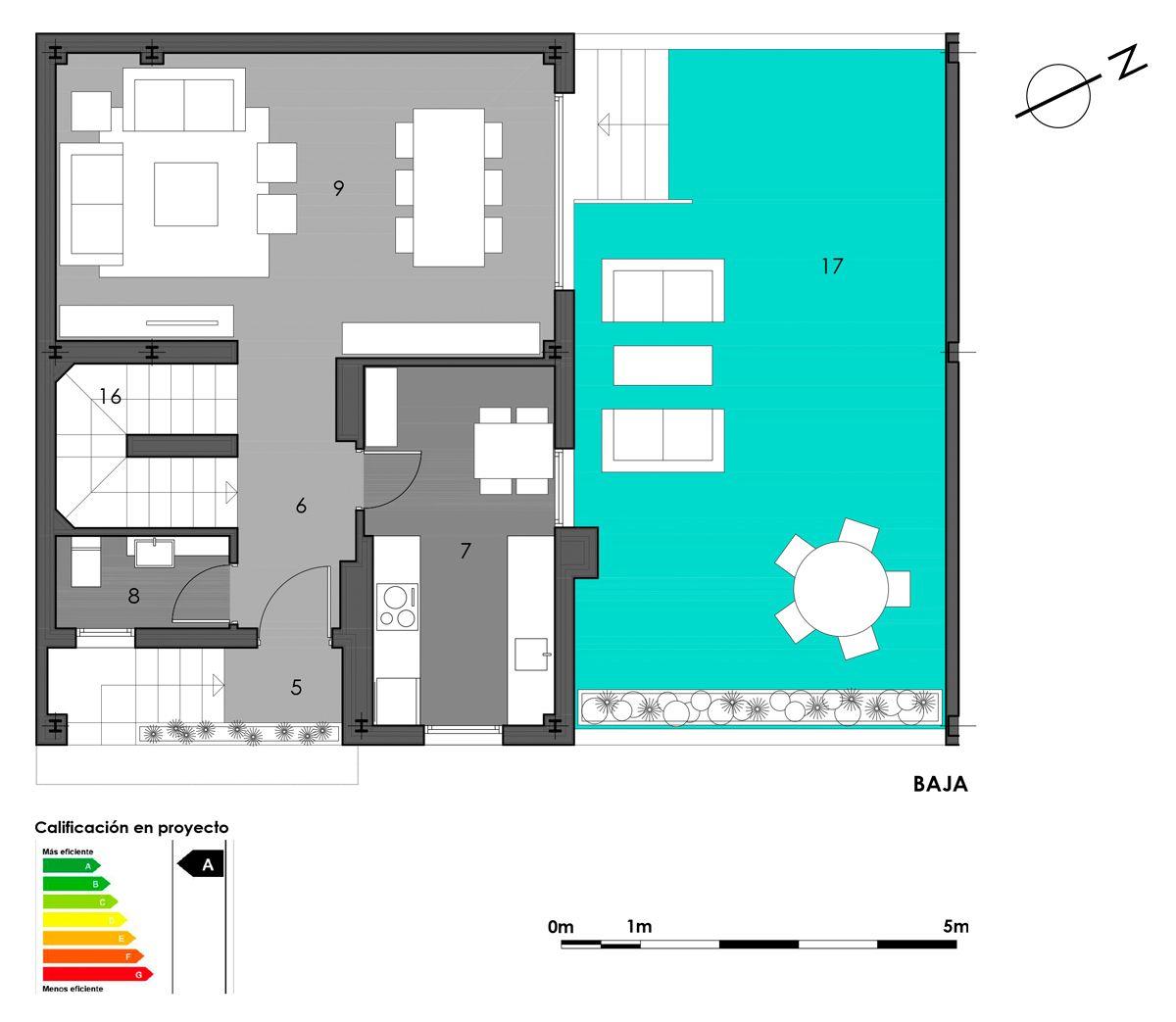 planta baja vivienda 1 con opción cocina cerrada