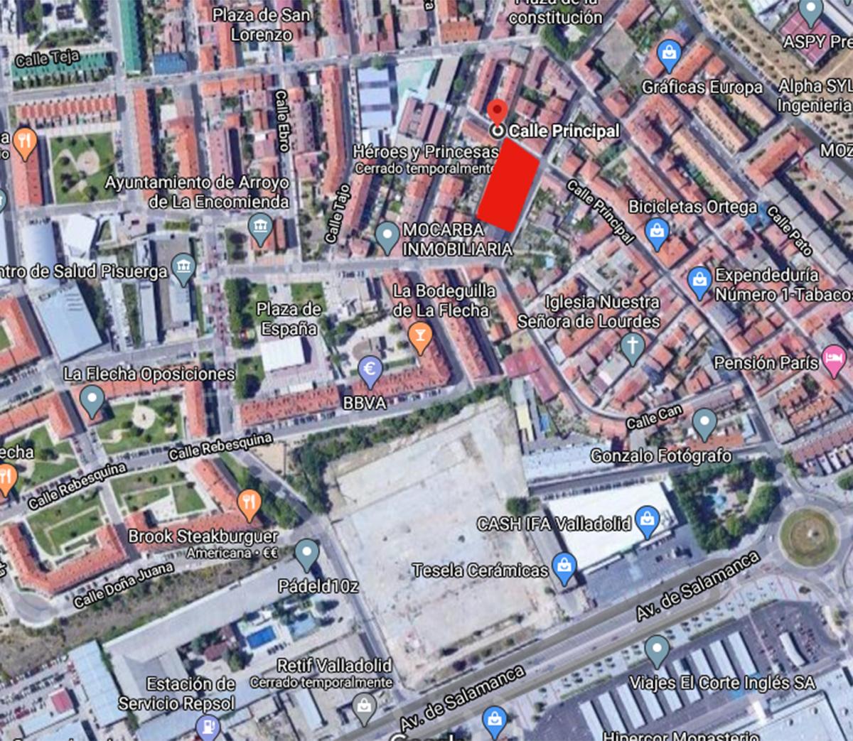 mapa viviendas unifamiliares Arroyo