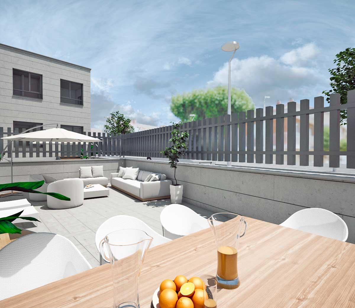 viviendas unifamiliares Arroyo de la Encomienda con terraza