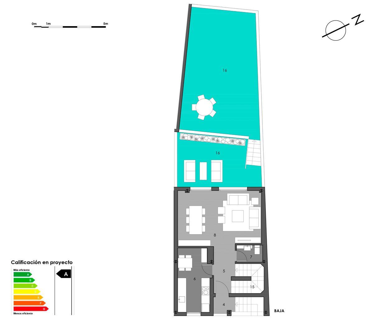 planta baja vivienda 10 con cocina cerrada