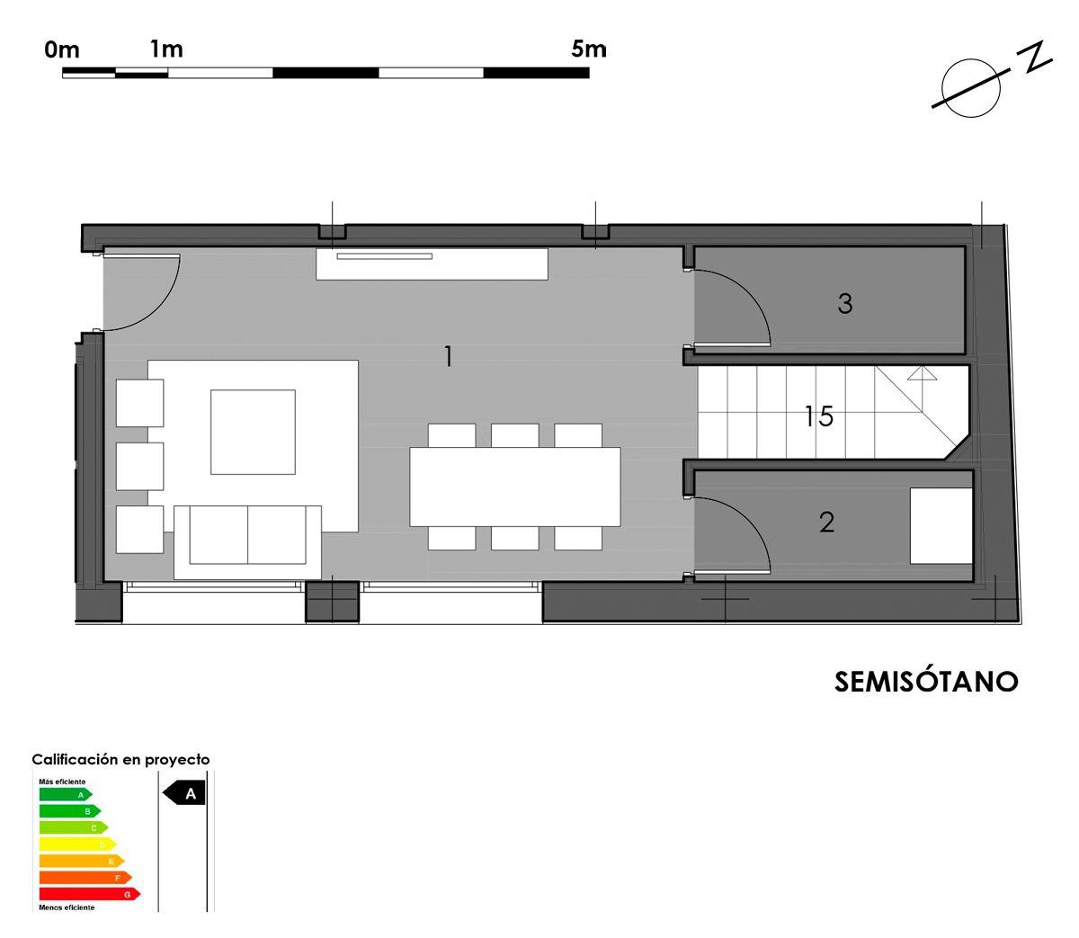 plano semisótano vivienda 10