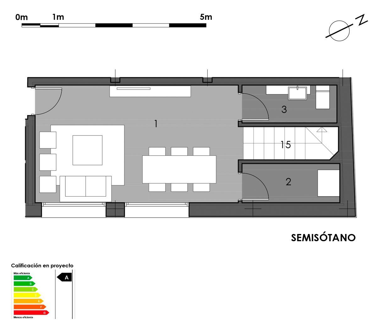 plano semisótano vivienda 10 con aseo