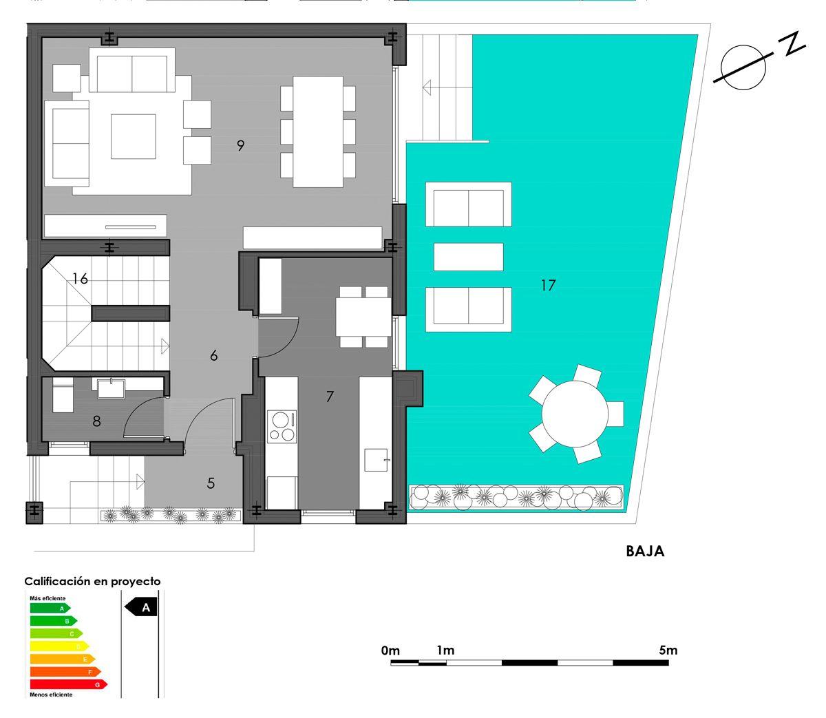 planta baja vivienda 3 cocina cerrada
