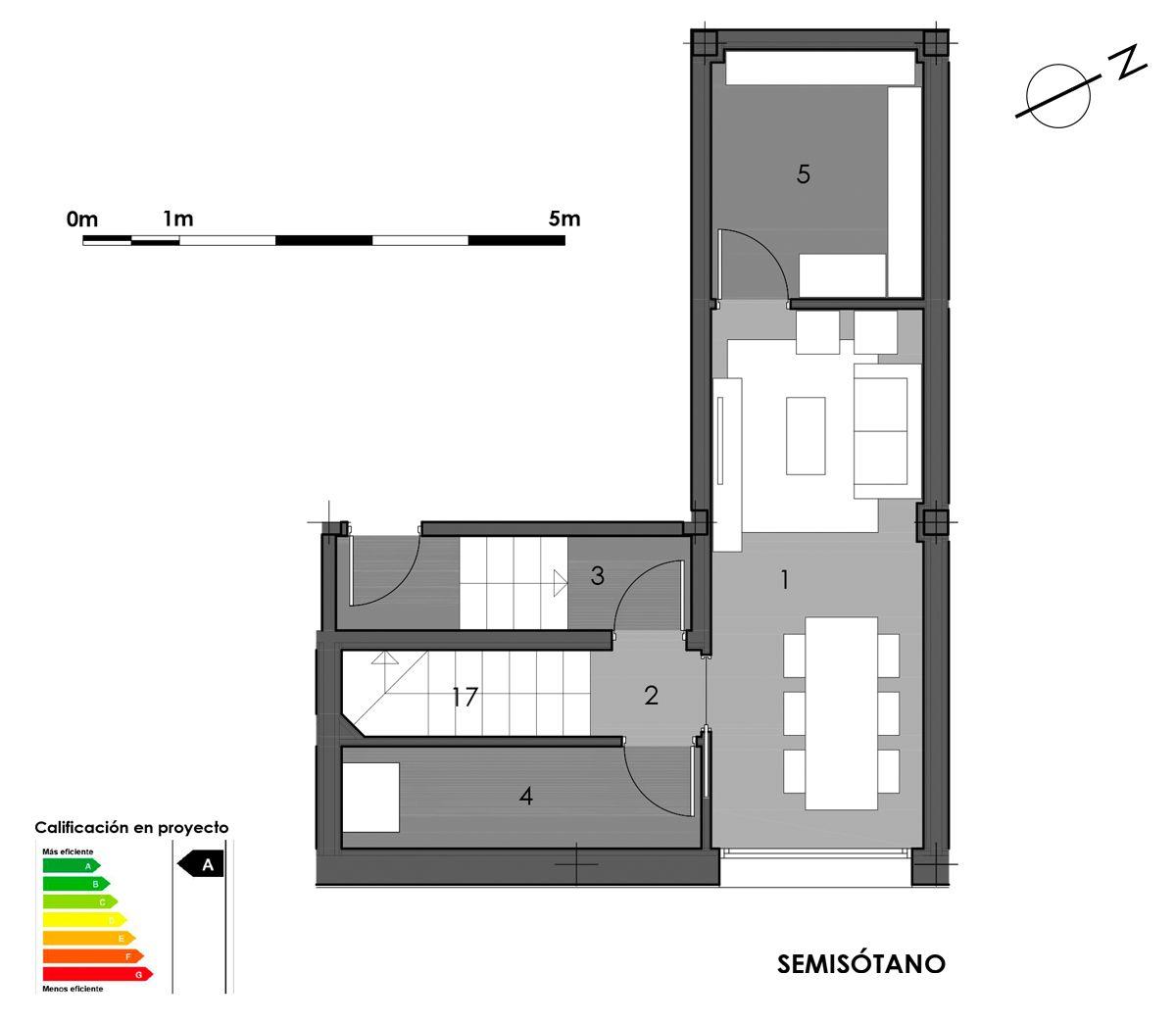 plano semisótano vivienda 5