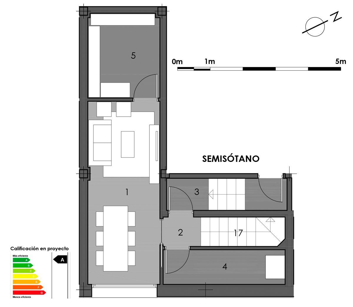 plano semisótano vivienda 6