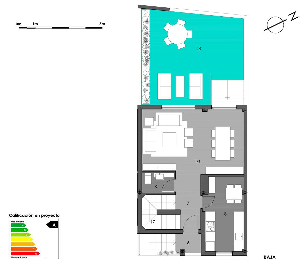 planta baja vivienda 7 opción cocina cerrada