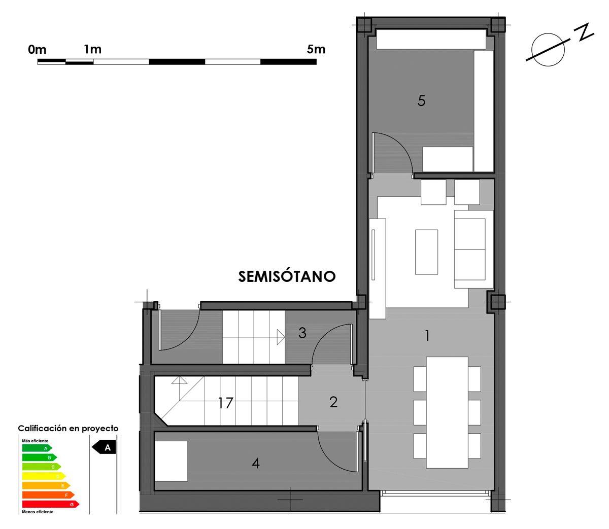 plano semisótano vivienda 7