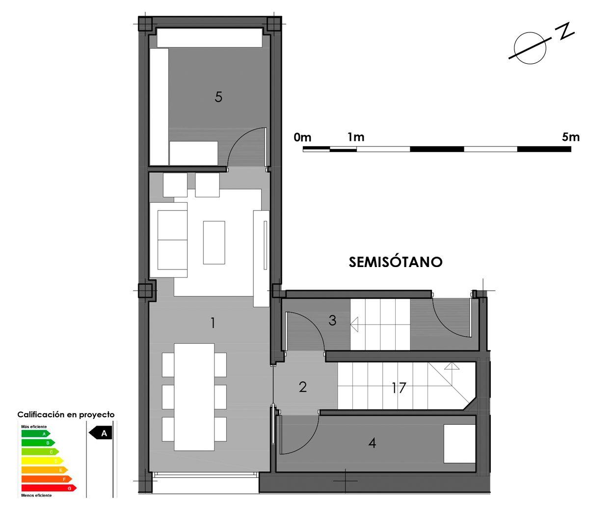 plano semisótano vivienda 8