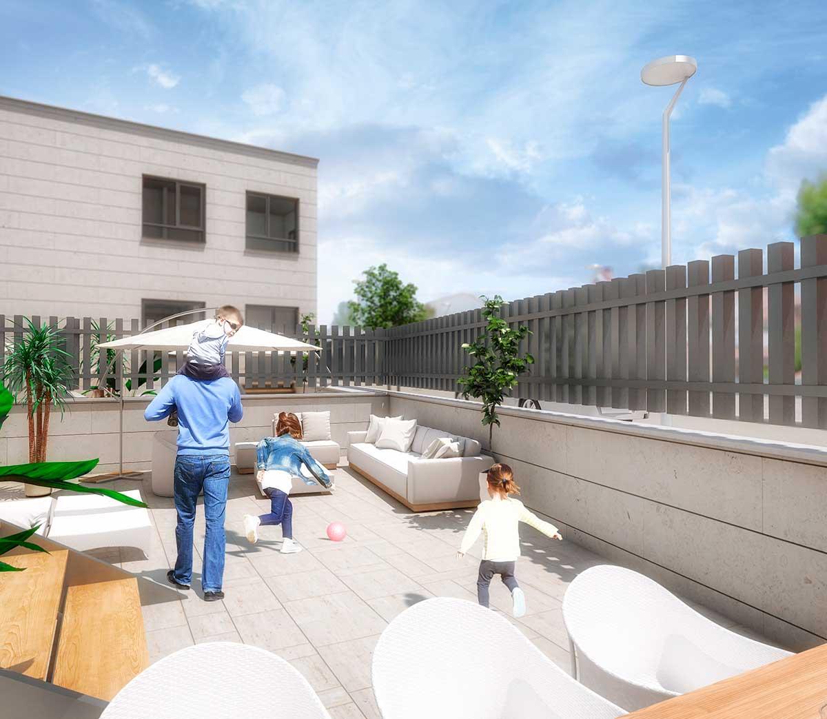 patio jardín terraza vivienda 3
